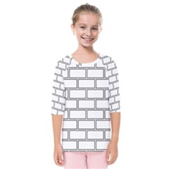 Wall Pattern Rectangle Brick Kids  Quarter Sleeve Raglan Tee