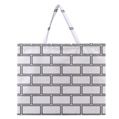 Wall Pattern Rectangle Brick Zipper Large Tote Bag by BangZart