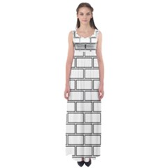 Wall Pattern Rectangle Brick Empire Waist Maxi Dress