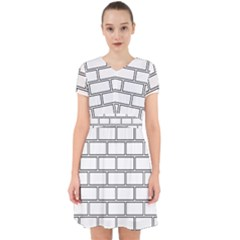Wall Pattern Rectangle Brick Adorable In Chiffon Dress