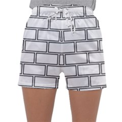 Wall Pattern Rectangle Brick Sleepwear Shorts