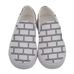 Wall Pattern Rectangle Brick Women s Canvas Slip Ons