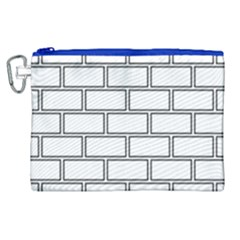Wall Pattern Rectangle Brick Canvas Cosmetic Bag (xl)