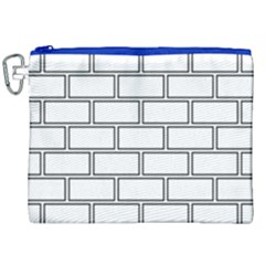 Wall Pattern Rectangle Brick Canvas Cosmetic Bag (xxl)