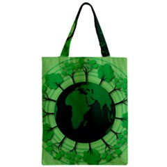 Earth Forest Forestry Lush Green Zipper Classic Tote Bag by BangZart