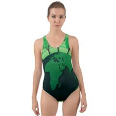 Earth Forest Forestry Lush Green Cut Out Back One Piece Swimsuit