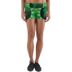 Earth Forest Forestry Lush Green Yoga Shorts by BangZart