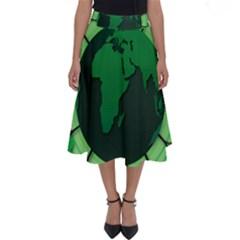 Earth Forest Forestry Lush Green Perfect Length Midi Skirt