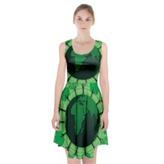 Earth Forest Forestry Lush Green Racerback Midi Dress