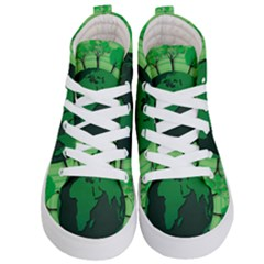 Earth Forest Forestry Lush Green Kid s Hi Top Skate Sneakers