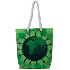 Earth Forest Forestry Lush Green Full Print Rope Handle Tote (small) by BangZart