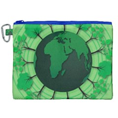 Earth Forest Forestry Lush Green Canvas Cosmetic Bag (xxl) by BangZart
