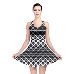 Triangle Pattern Background Reversible Skater Dress