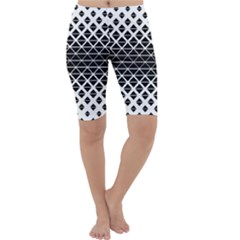 Triangle Pattern Background Cropped Leggings