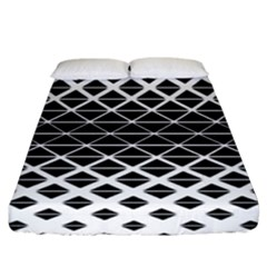 Triangle Pattern Background Fitted Sheet (king Size)