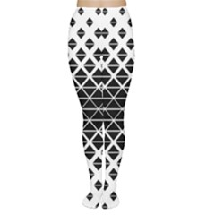 Triangle Pattern Background Women s Tights