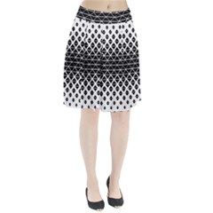 Triangle Pattern Background Pleated Skirt