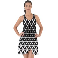 Triangle Pattern Background Show Some Back Chiffon Dress by BangZart