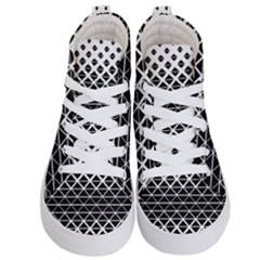 Triangle Pattern Background Kid s Hi Top Skate Sneakers