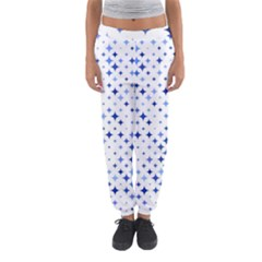 Star Curved Background Blue Women s Jogger Sweatpants