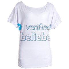 Verified Belieber Women s Oversized Tee