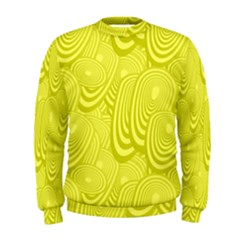 Yellow Oval Ellipse Egg Elliptical Men s Sweatshirt