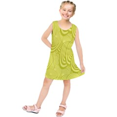 Yellow Oval Ellipse Egg Elliptical Kids  Tunic Dress