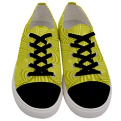 Yellow Oval Ellipse Egg Elliptical Men s Low Top Canvas Sneakers