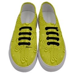 Yellow Oval Ellipse Egg Elliptical Men s Classic Low Top Sneakers
