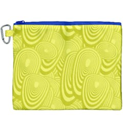 Yellow Oval Ellipse Egg Elliptical Canvas Cosmetic Bag (xxxl)