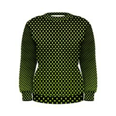 Pattern Halftone Background Dot Women s Sweatshirt