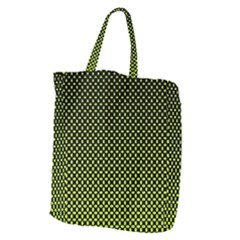 Pattern Halftone Background Dot Giant Grocery Zipper Tote