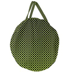 Pattern Halftone Background Dot Giant Round Zipper Tote