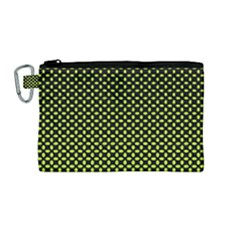 Pattern Halftone Background Dot Canvas Cosmetic Bag (medium)