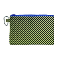 Pattern Halftone Background Dot Canvas Cosmetic Bag (large) by BangZart