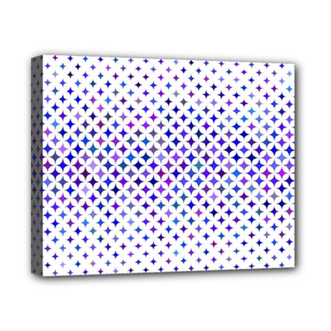 Star Curved Background Geometric Canvas 10  X 8