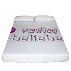 Verified Belieber Fitted Sheet (california King Size) by Valentinaart