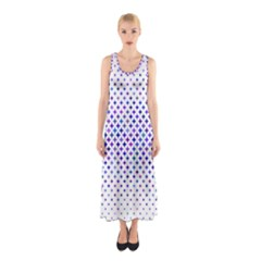 Star Curved Background Geometric Sleeveless Maxi Dress