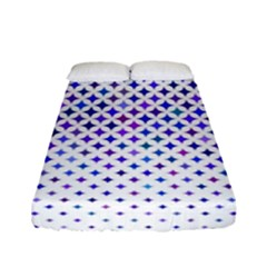 Star Curved Background Geometric Fitted Sheet (full/ Double Size)