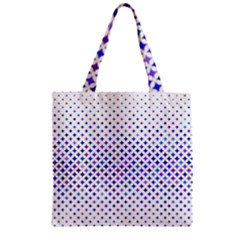 Star Curved Background Geometric Zipper Grocery Tote Bag by BangZart