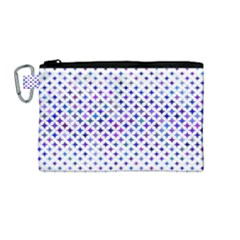 Star Curved Background Geometric Canvas Cosmetic Bag (medium) by BangZart