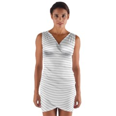 Pattern Background Monochrome Wrap Front Bodycon Dress