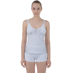 Pattern Background Monochrome Tie Front Two Piece Tankini
