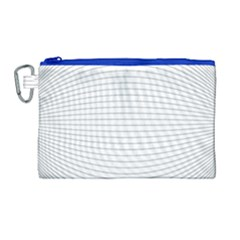 Pattern Background Monochrome Canvas Cosmetic Bag (large)