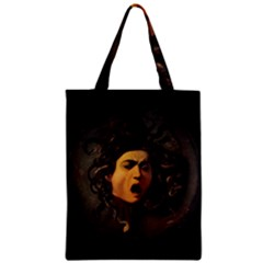 Medusa Zipper Classic Tote Bag by Valentinaart