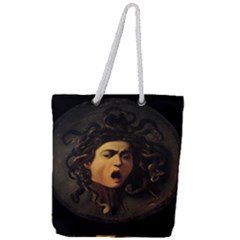 Medusa Full Print Rope Handle Tote (large) by Valentinaart