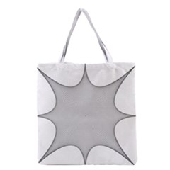 Star Grid Curved Curved Star Woven Grocery Tote Bag