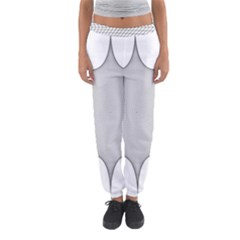 Star Grid Curved Curved Star Woven Women s Jogger Sweatpants