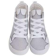 Star Grid Curved Curved Star Woven Kid s Hi Top Skate Sneakers