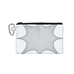 Star Grid Curved Curved Star Woven Canvas Cosmetic Bag (small)